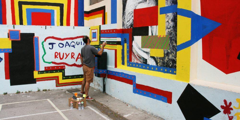 Escola Joaquim Ruyra -mural- Miquel Gelabert 1