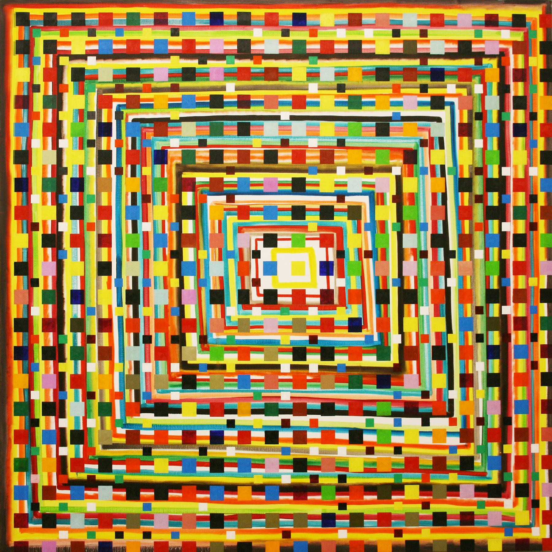 Geom 1 -oil on canvas 200 x 200 cm- 2016 Miquel Gelabert