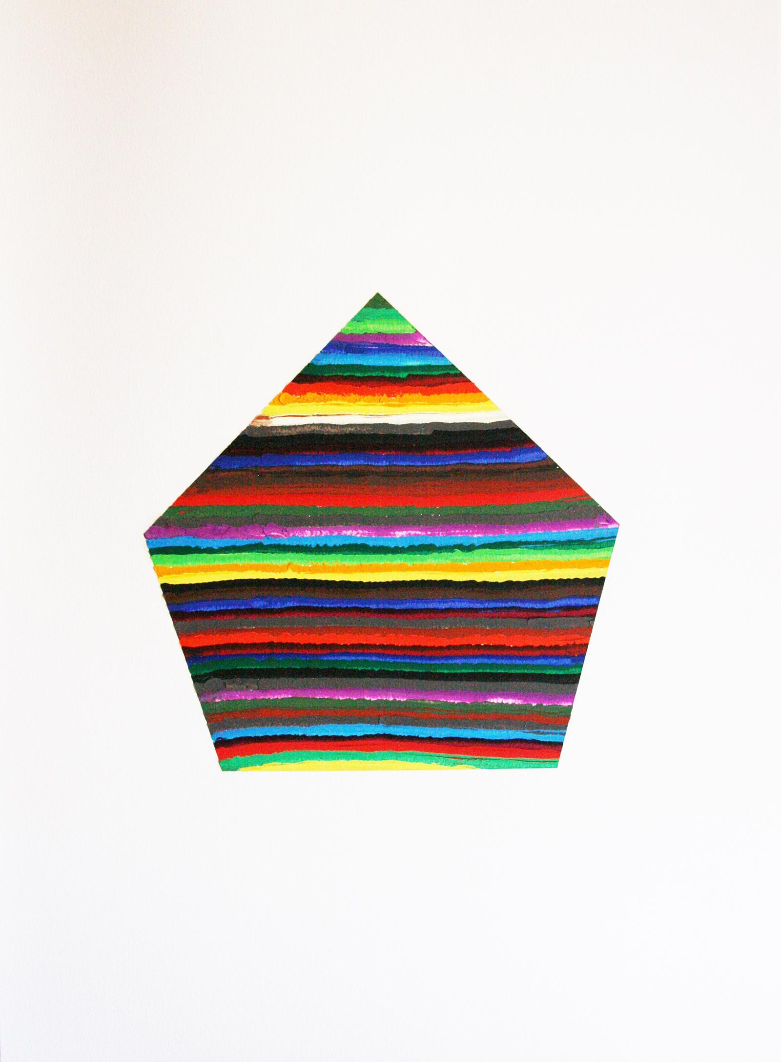 Geom 1 (oil on paper, 65x50cm) 2011- Miquel Gelabert