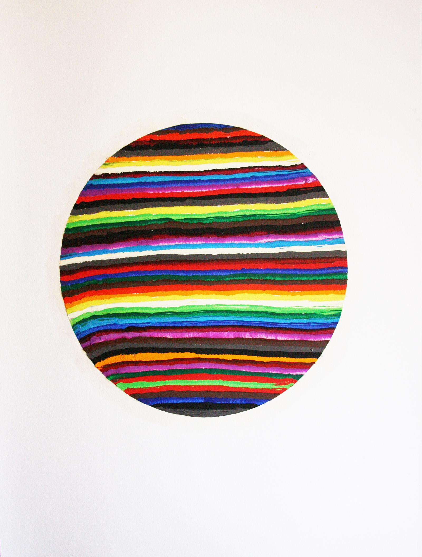 Geom 3 (oil on paper, 65x50cm) 2011- Miquel Gelabert