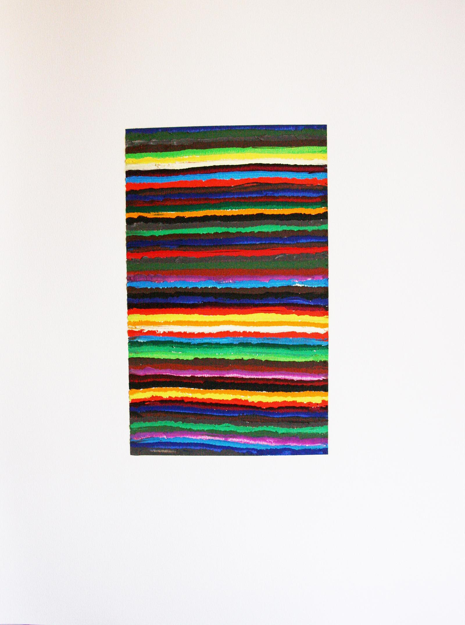 Geom 4 (oil on paper, 65x50cm) 2011- Miquel Gelabert