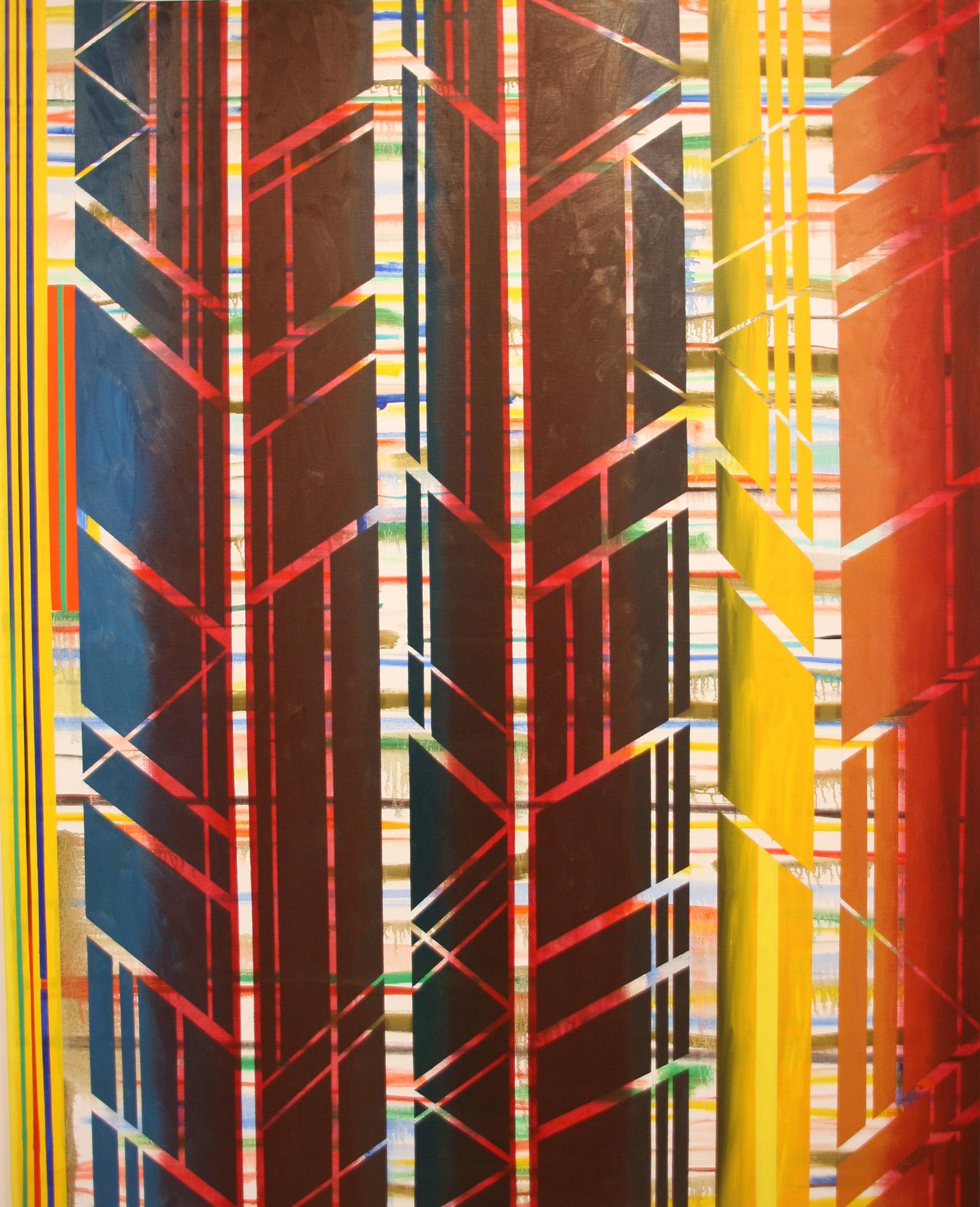 Geom 5 -oil on canvas 162 x 130 cm- 2016 Miquel Gelabert