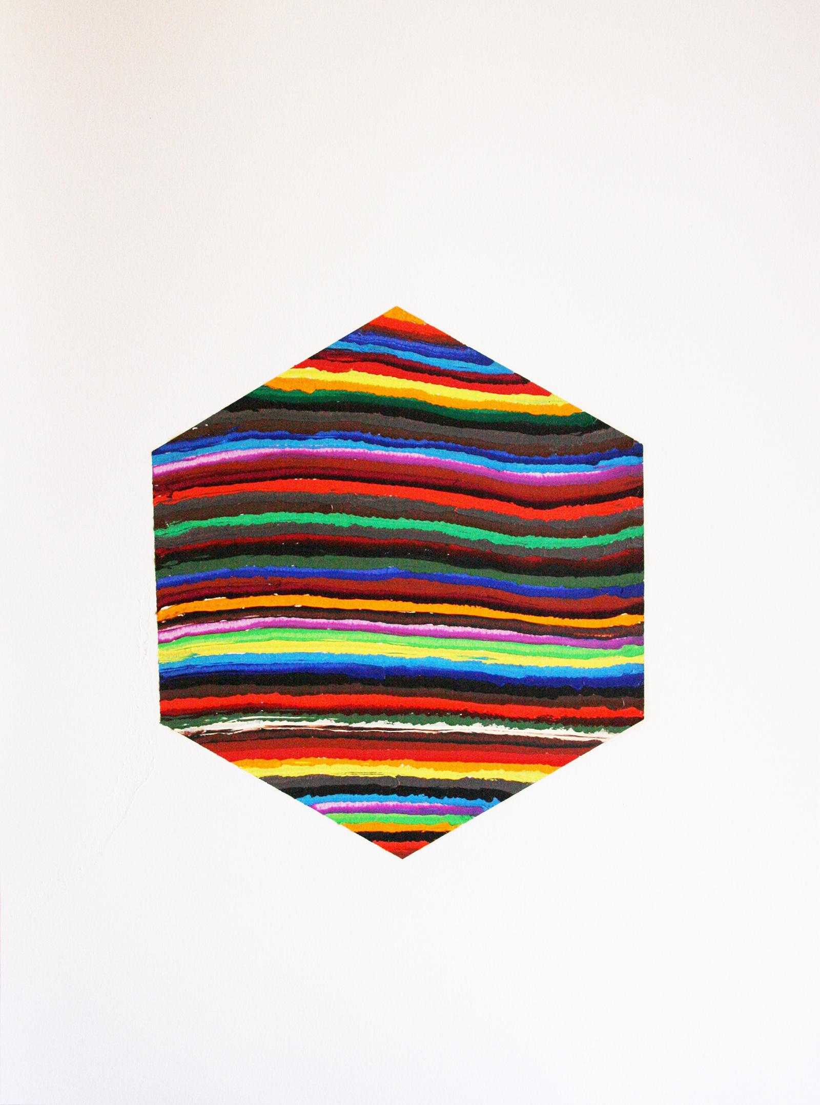 Geom 5 (oil on paper, 65x50cm) 2011- Miquel Gelabert