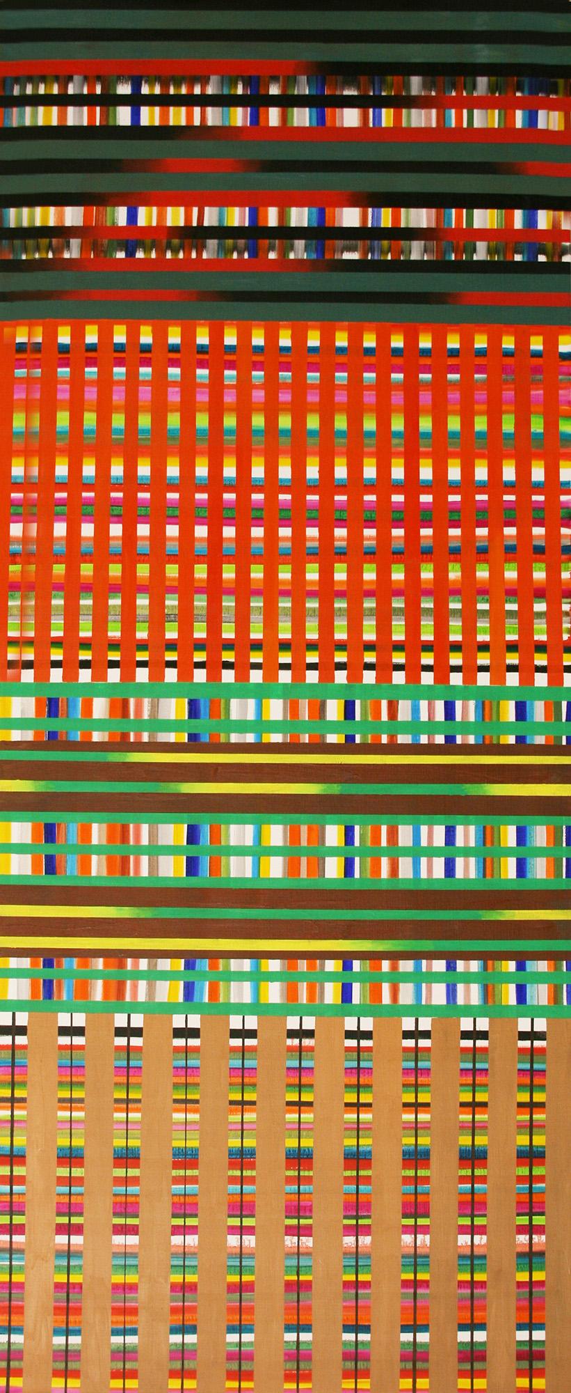 Geom 6 -oil on canvas 200 x 81 cm- 2016 Miquel Gelabert