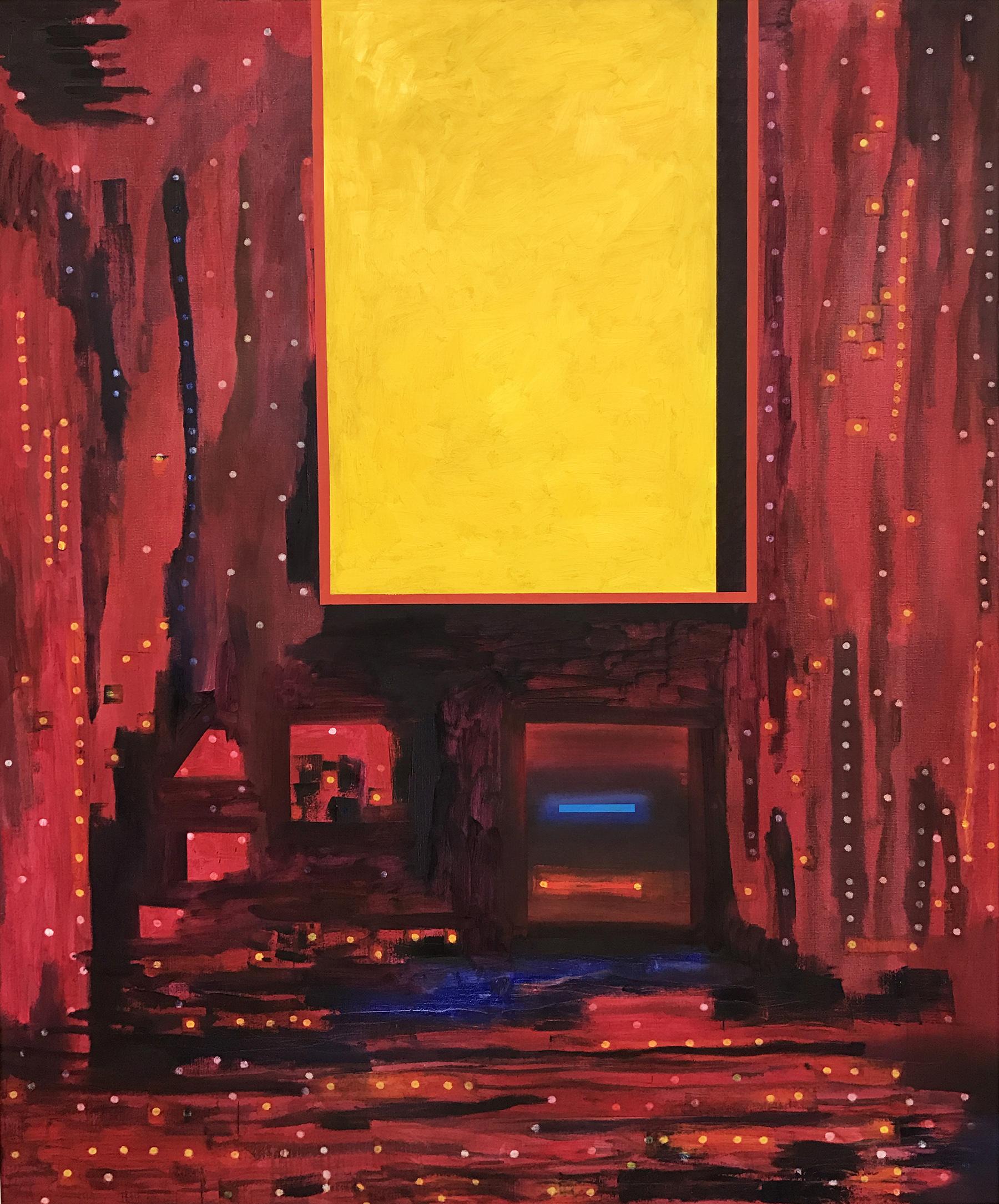 October Land 2 -oil on canvas 195 x 162 cm- 2016 Miquel Gelabert