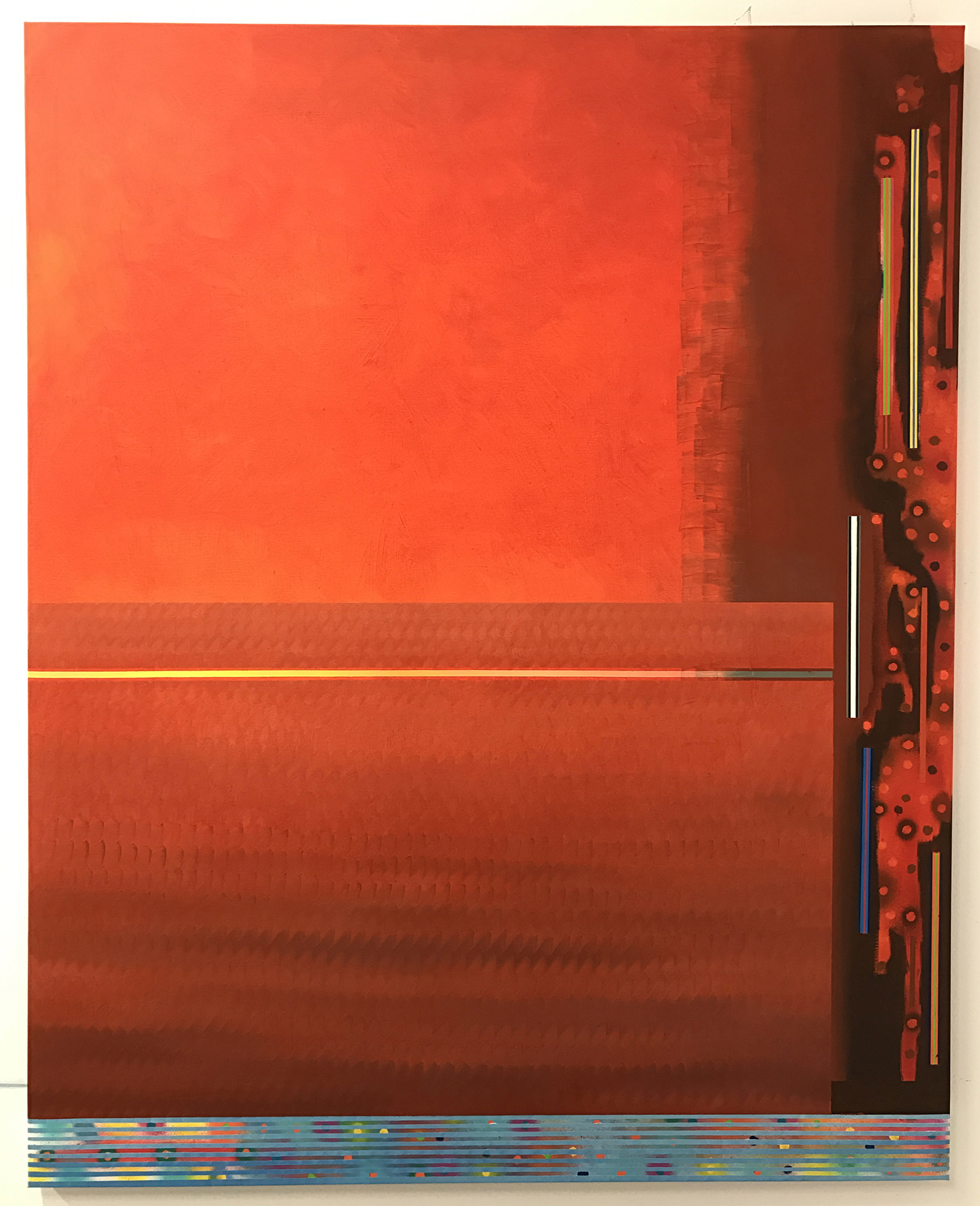 Redland 1 -oil on canvas 162 x 130 cm- 2017 (private collection, San Francisco)