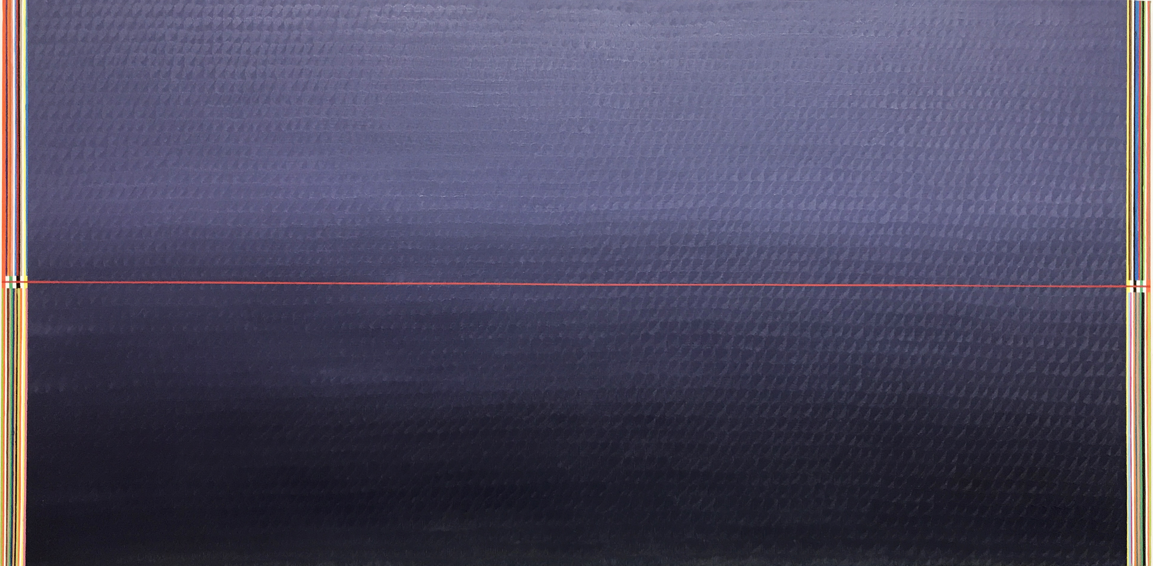Redline horizon (100x200cm) 2017 (private collection, New York)