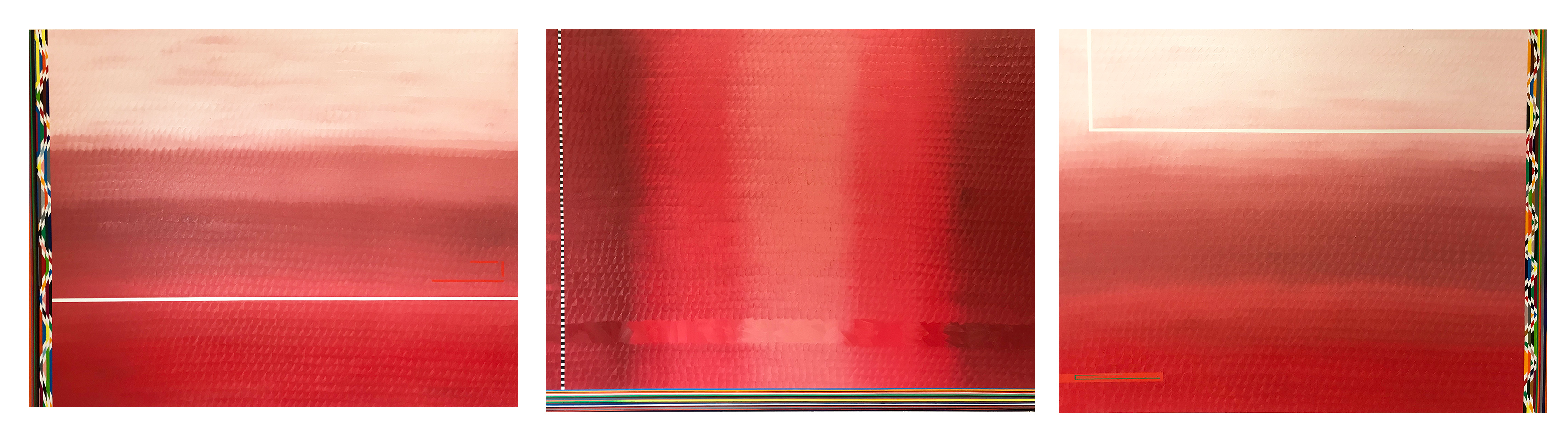 Redscape geom (triptych, 89x116cm each) 2017 (private collection)