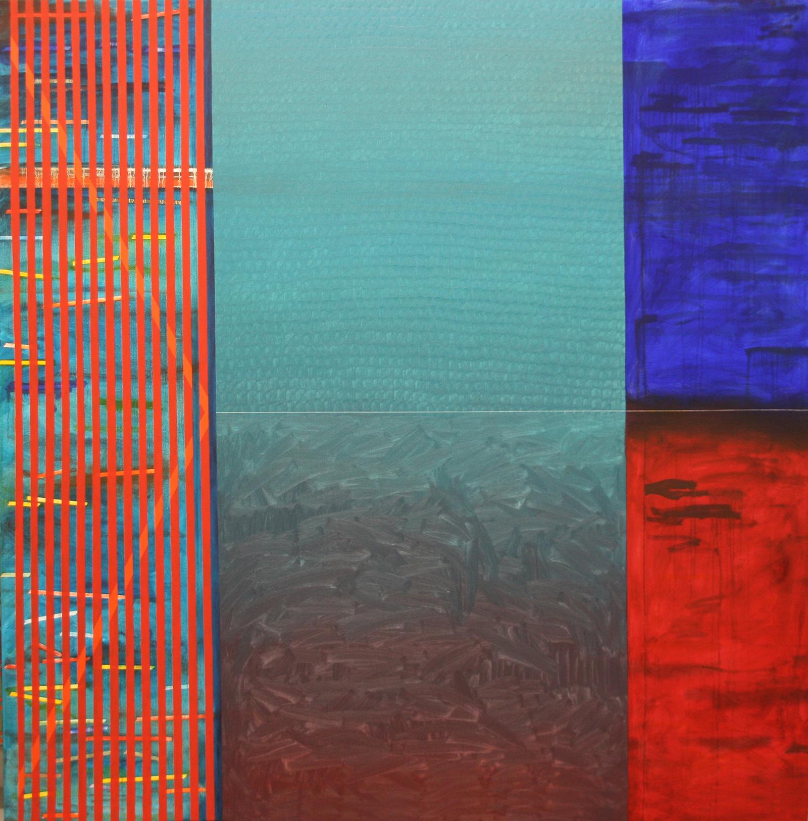 Temps -oil on canvas 200 x 200 cm- 2016 Miquel Gelabert