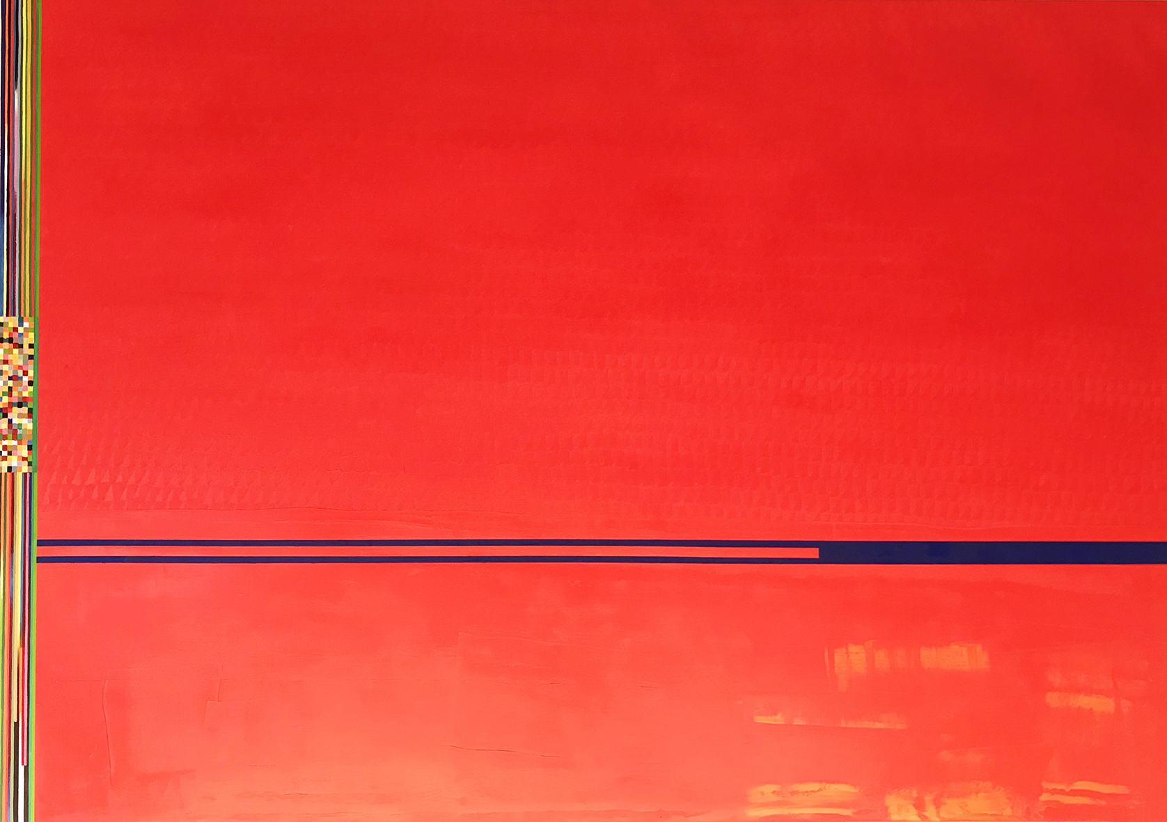 Red painting 1 (146x208cm) 2018-2019 (private collection)