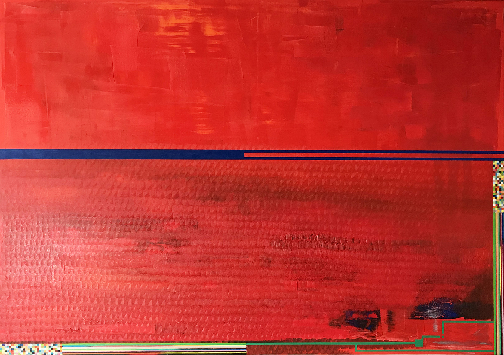 Red painting 3 (146x208cm) 2018-2019 (private collection)