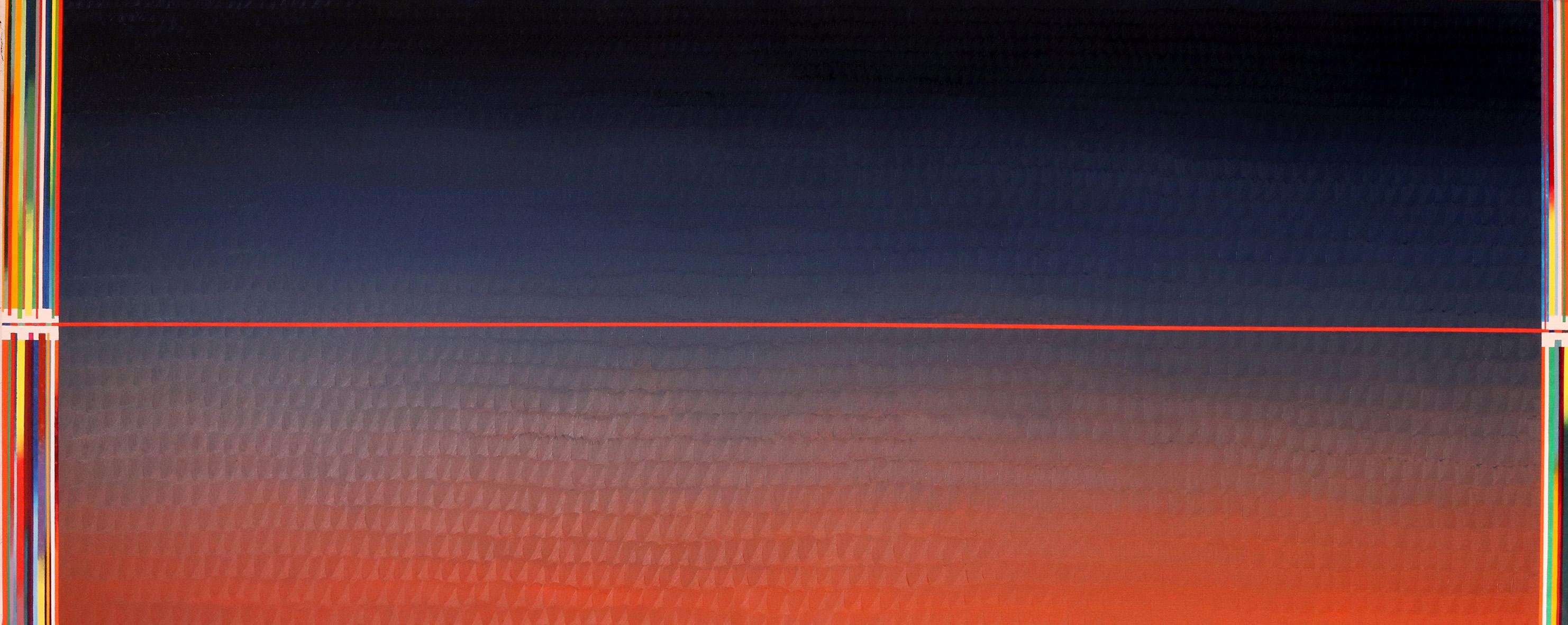 Redline horizon (v 6.0) (81x200cm) 2019 (private collection, New York)
