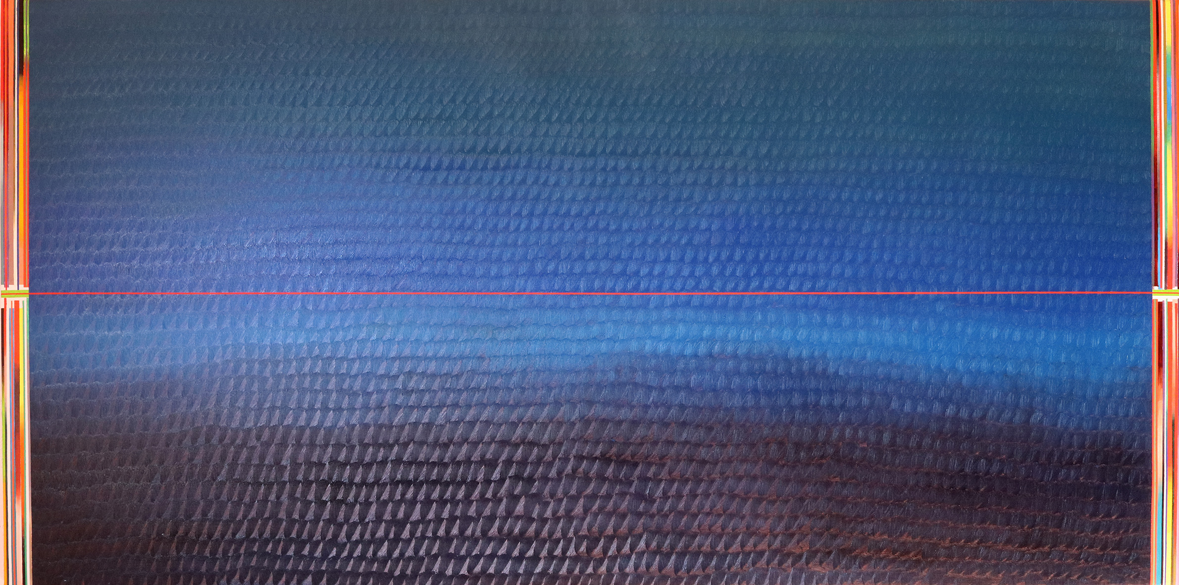 Redline horizon (v 7.0) (100x200cm) 2019 (private collection, New York)