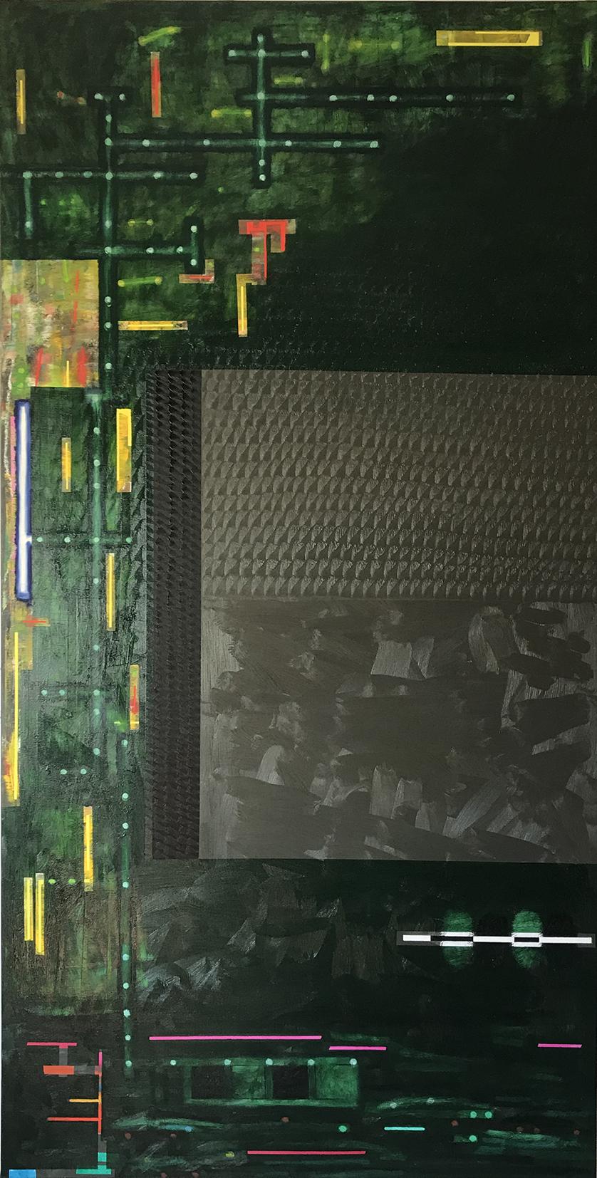 Greenometry (237x122cm) 2021